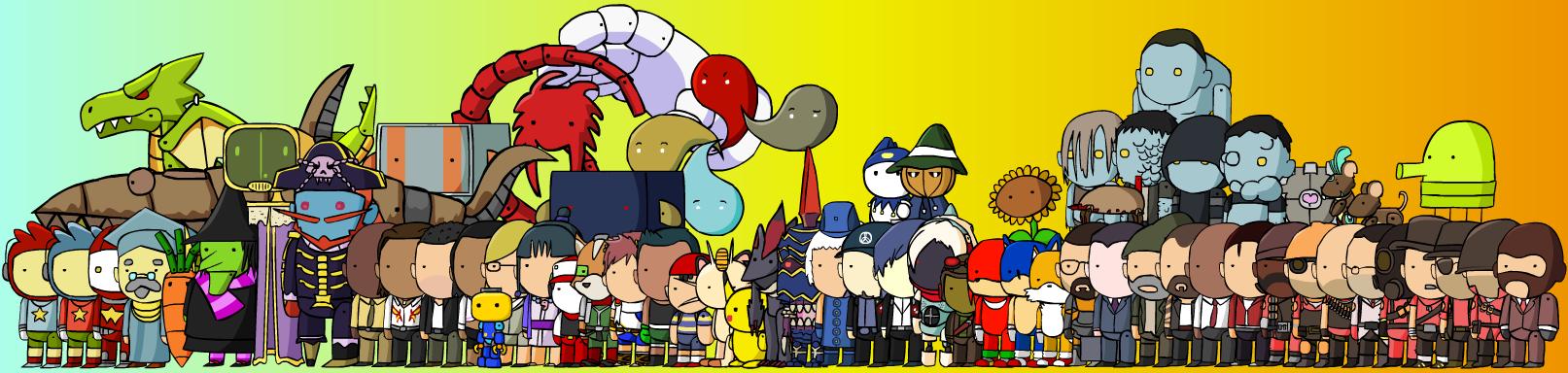 Drawing Scribblenauts : Scribblenauts vg characters by mcgenio on deviantart