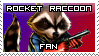 Rocket Raccoon Stamp by McGenio