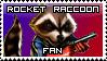 Rocket Raccoon Stamp by McGenio