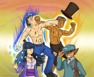 Professor Layton vs Ace Attorney for real