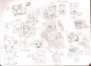 I've drawn animals :I