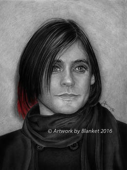 JARED LETO BLACK AND RED