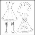 Orange Lolita Dress - Flats