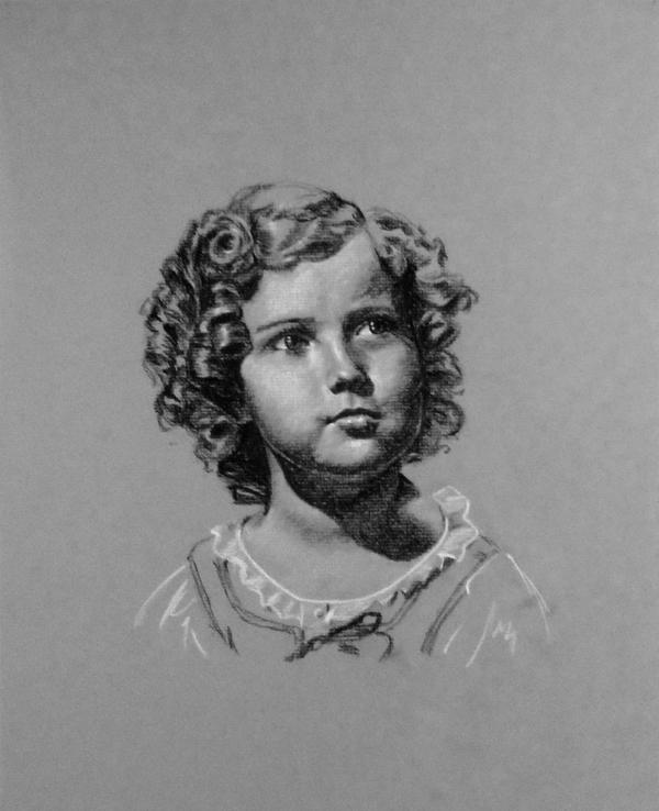 Famous Portrait - Shirley Temple by Tankitha