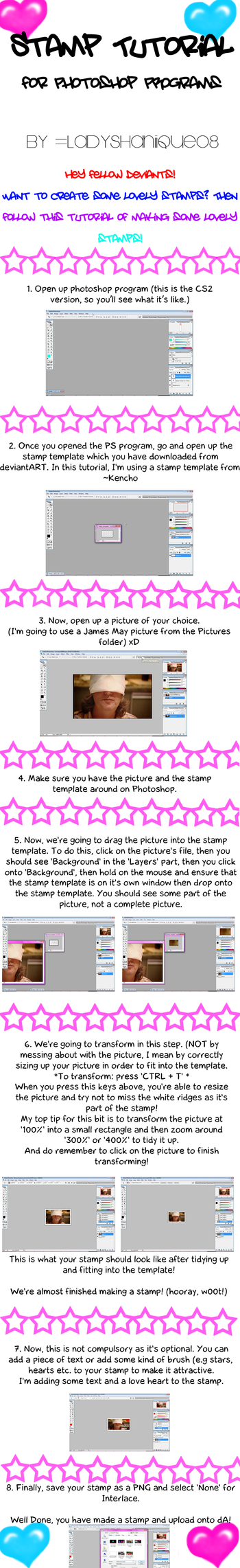 How To Make Stamps Tutorial by ladyshaniique08