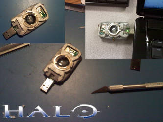 Halo: Cortana 'A.I. Chip' USB by CrimsonStrife