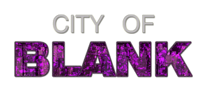 City of Blank - HQ Logo by CrimsonStrife