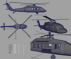 3D BlackHawk Helicopter