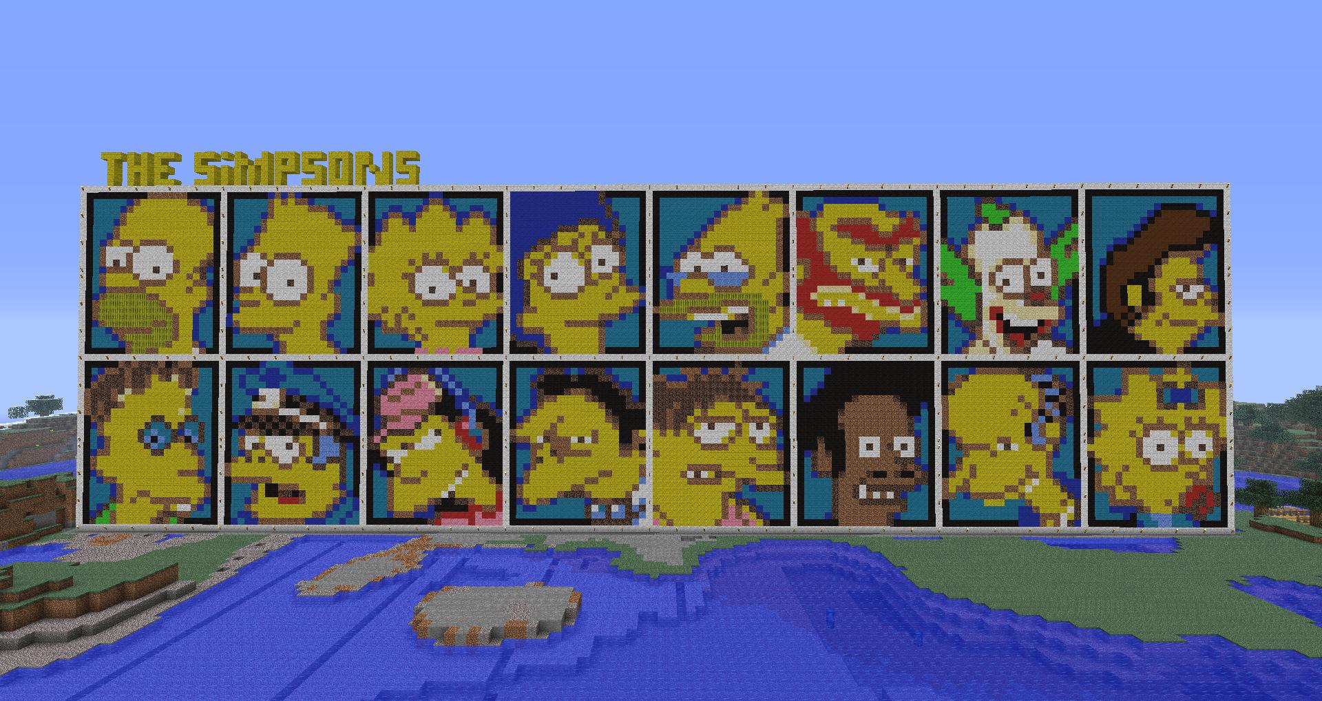 Minecraft The Simpsons By Luk01 On Deviantart