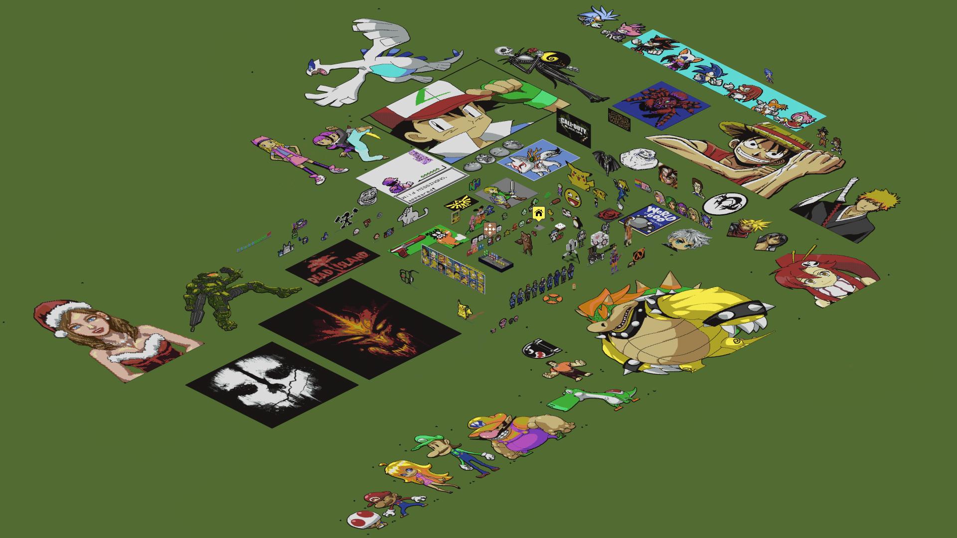 ... Minecraft   My Pixel Art World By Luk01