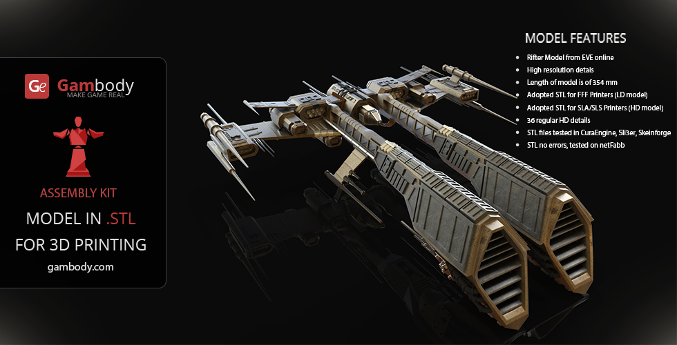 Eve Online Ships 3d Models Rifter Ship By Gambody On
