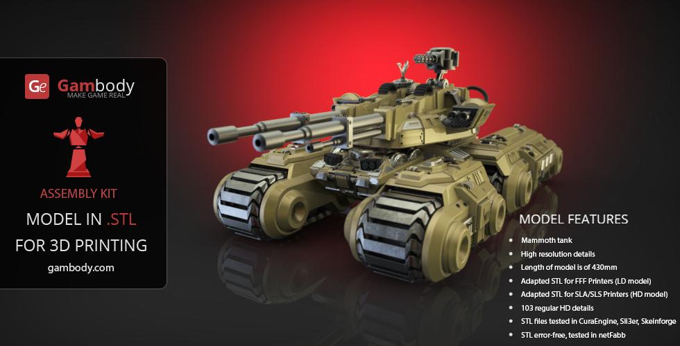 CnC 3 Mammoth Tank 3D Printing Design by Gambody on DeviantArt