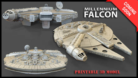 Millenium Falcon 3D Model for Printing by Gambody