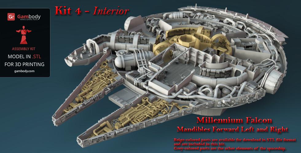 Millennium Falcon Interior 3D Model   Kit 4 By Gambody ...