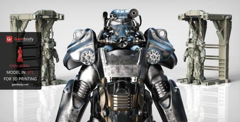 3D printable T-60 Power Armor Replica by Gambody