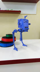 3D printed AT-ST, Star Wars Walker by Gambody