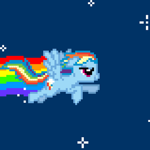 Nyan Cat Rainbow Dash by Gif28