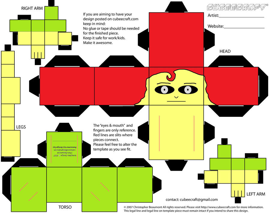 This is a photo of Breathtaking Cubee Craft Template