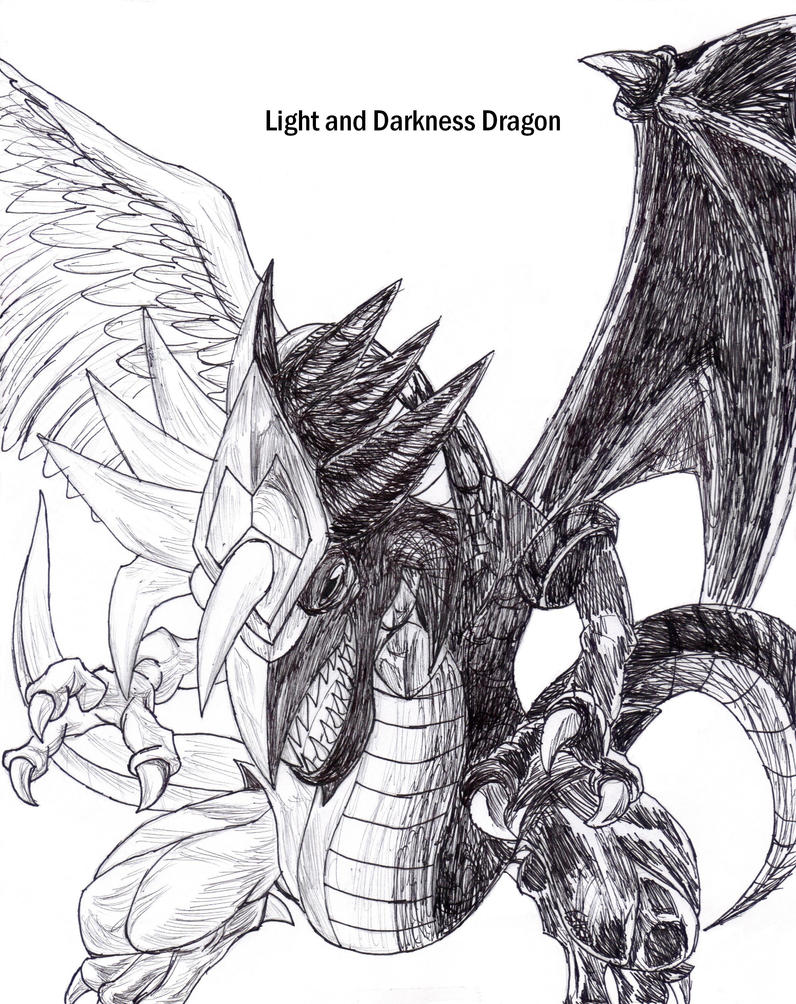 light and darkness dragon by theultione on deviantart