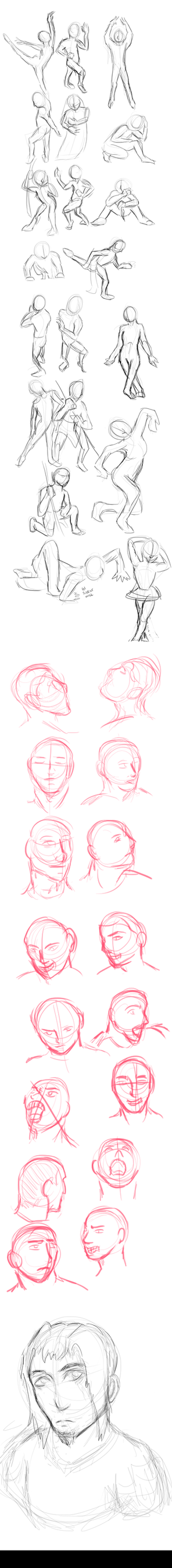 Figure + expression sketching by TheUltione