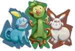 Galar starters: Slight redesign by TheUltione