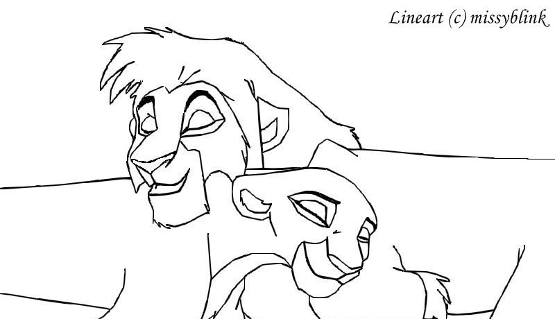 kovu and kiara coloring pages - photo#20