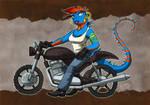 biker iguana