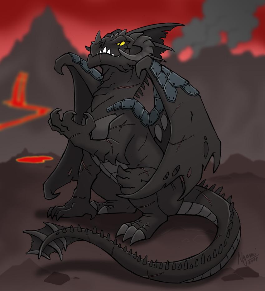 mean black dragon
