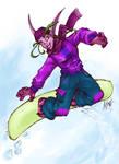 Snowboardin Nelf in Colour
