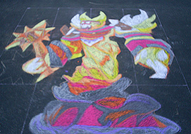 Ragnaros Sidewalk Chalk by Lu-Kutha