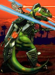Dino-Riders T-Rex by Lu-Kutha