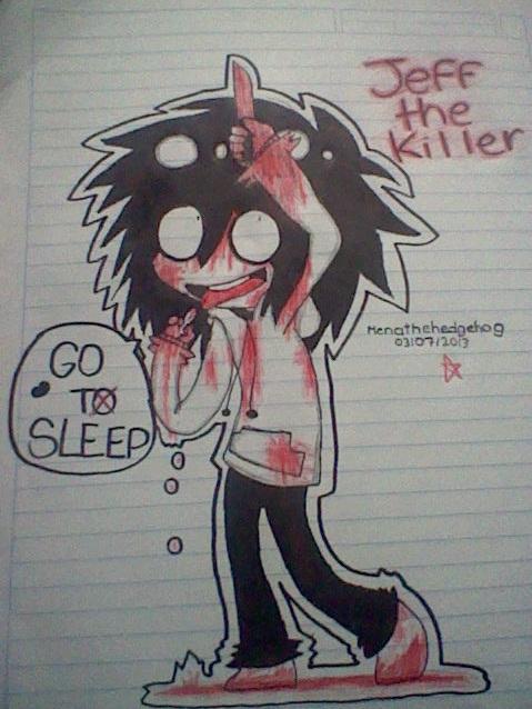Jeff the Killer chibi by Menathehedgehog