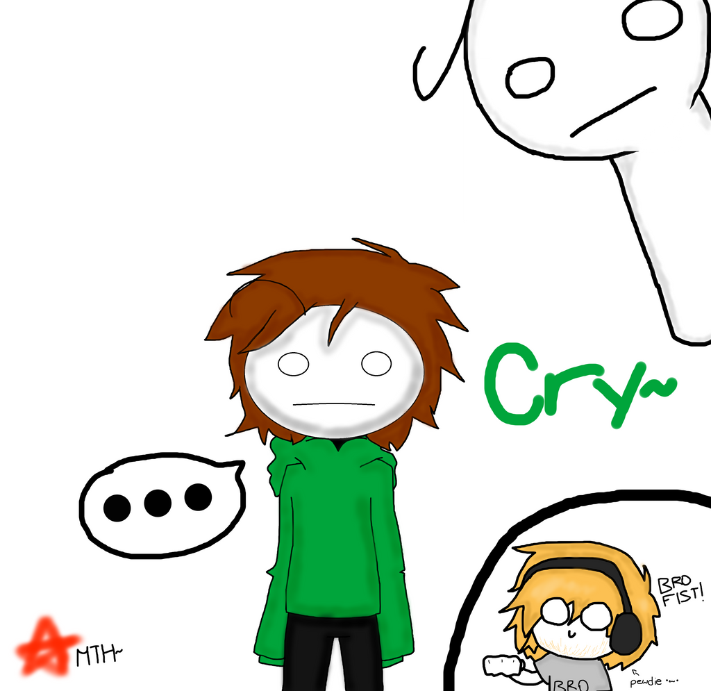 PewDiePie and Cry by Menathehedgehog on DeviantArt