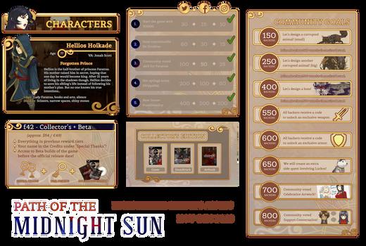 Kickstarter Assets for Path of the Midnight Sun