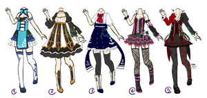 Adoptable : Outfits II [CLOSED] by ZylenXia
