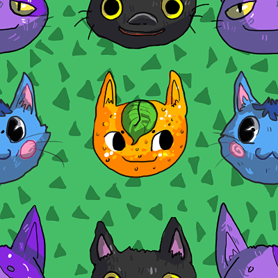 Animal Crossing Cats Seamless Background By Uw0 On Deviantart
