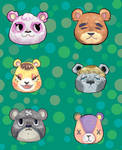 Tiled Animal Crossing Background- Commission