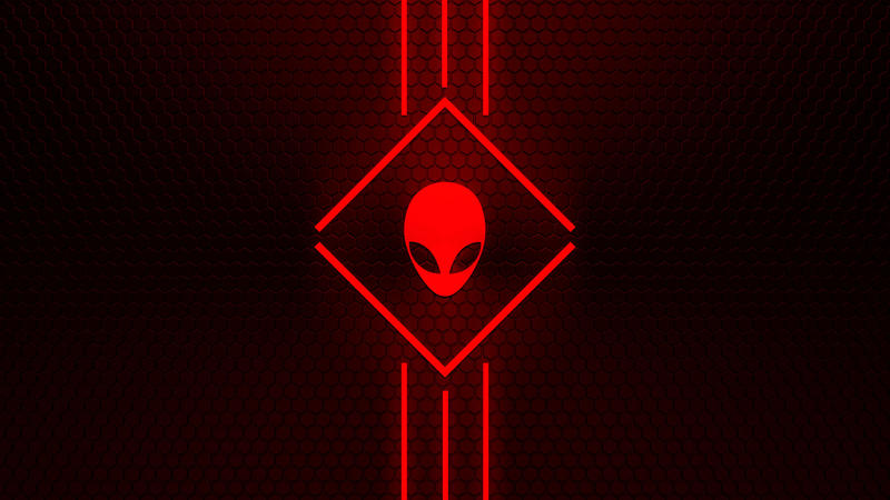 Alienware Wallpaper Red 2 by NeverHagS