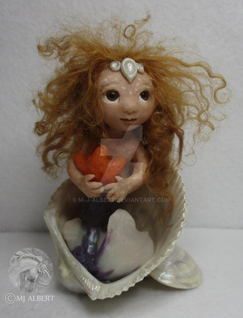 OOAK Mermaid Sculpted Art Doll by M-J-Albert