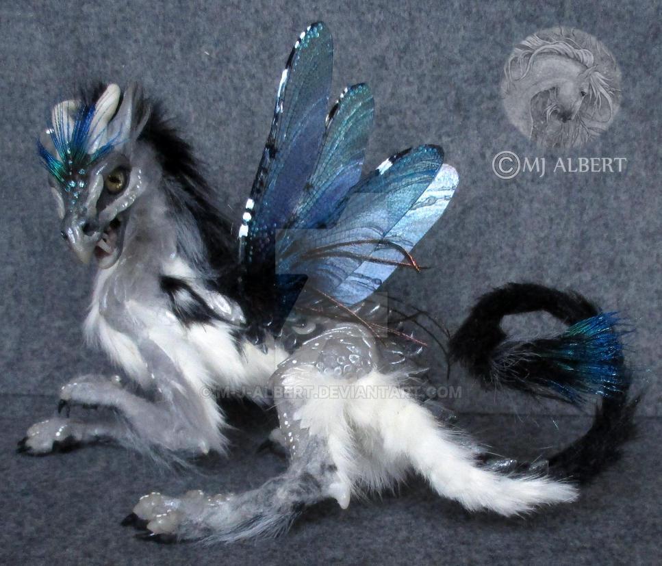 OOAK Fairy Spirit Dragon Art Doll by M-J-Albert