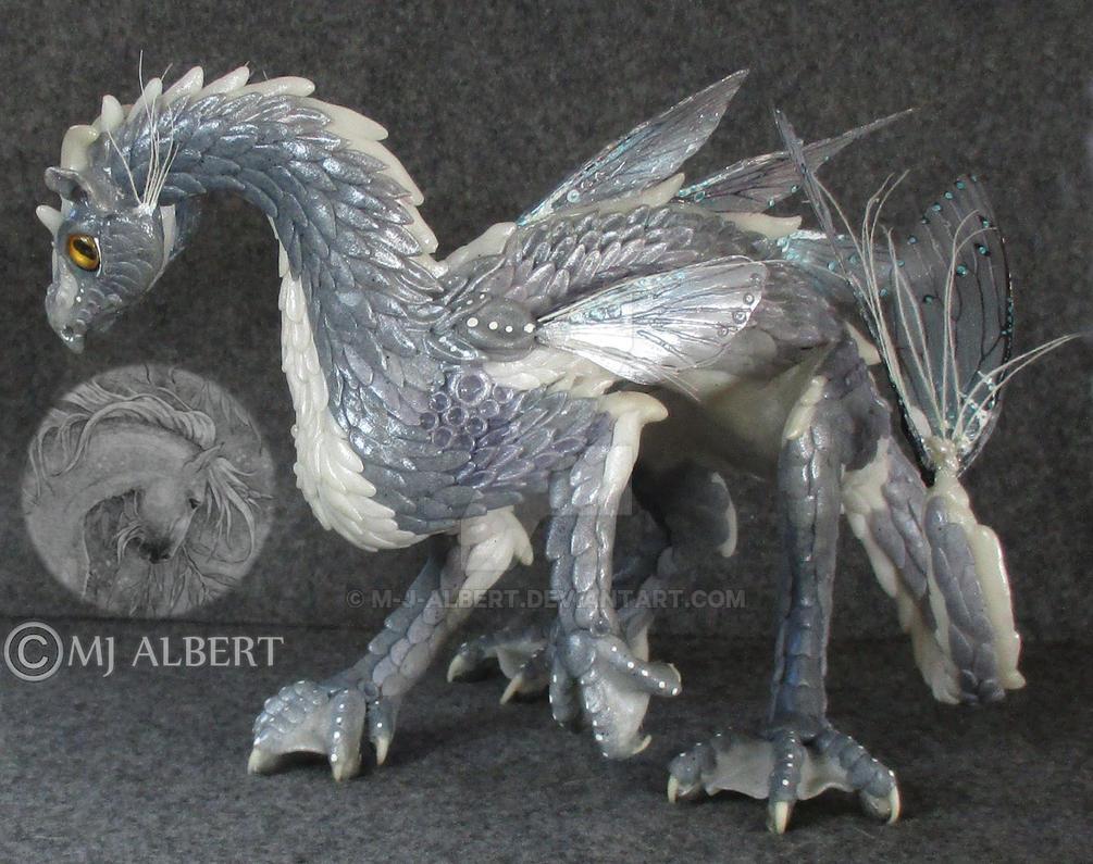 OOAK Water Dragon Art Doll by M-J-Albert