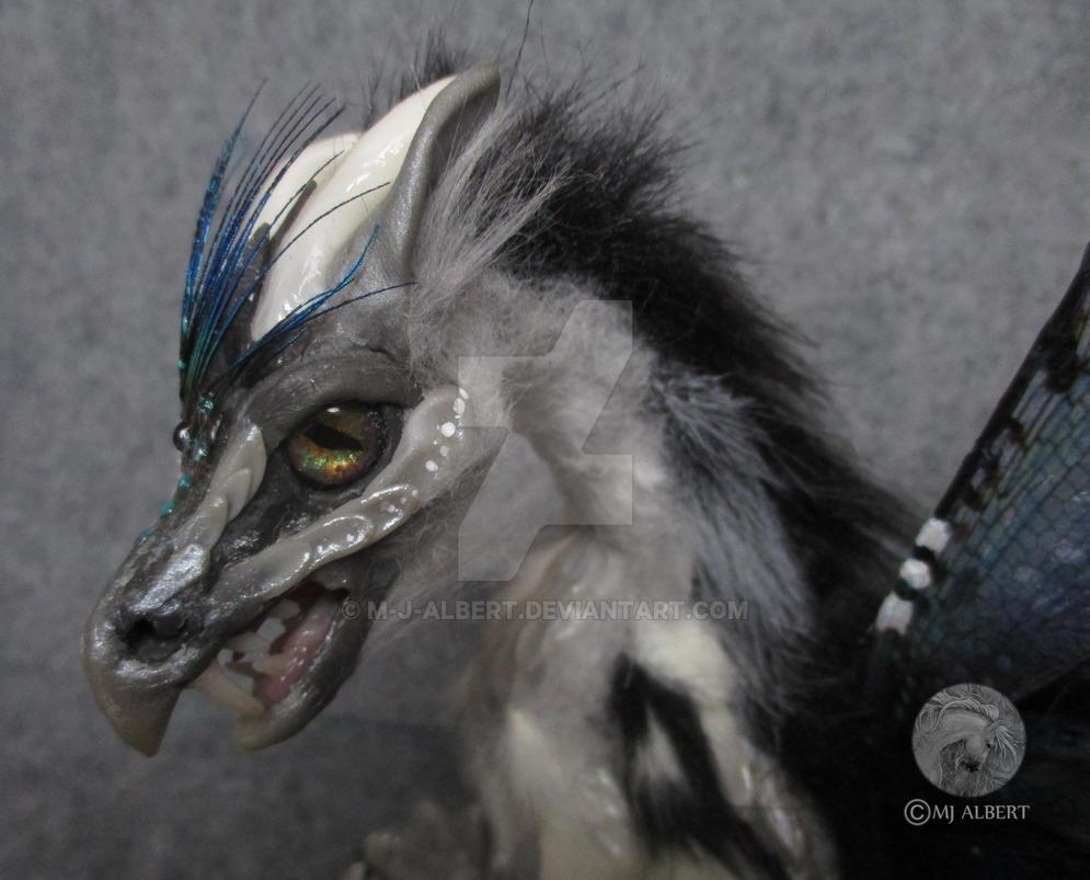 Closeup of Razyah Fairy Spirit Dragon by M-J-Albert