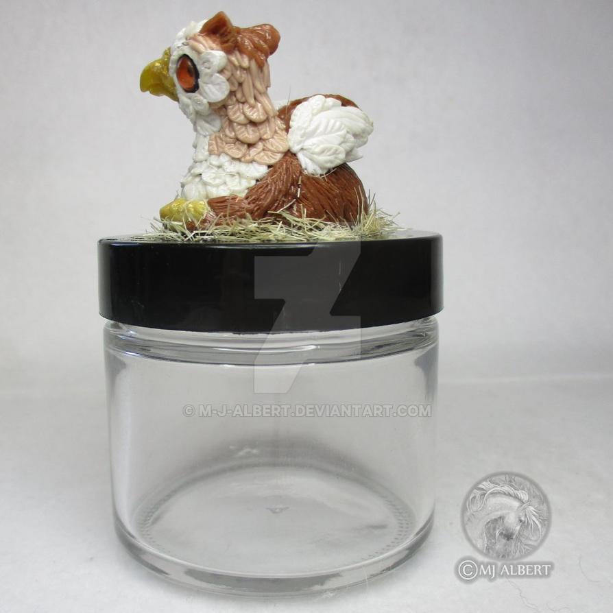 OOAK Gryphon Collectible Jar by M-J-Albert