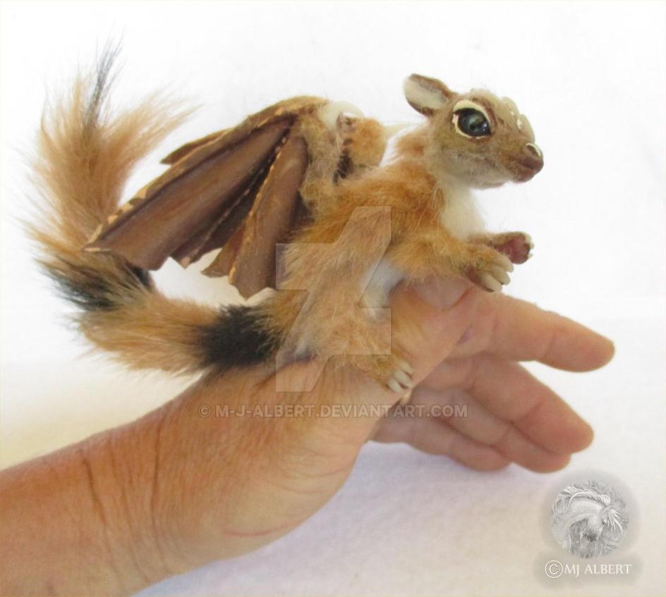 OOAK Poseable Furry Ringtailed Dragon by M-J-Albert