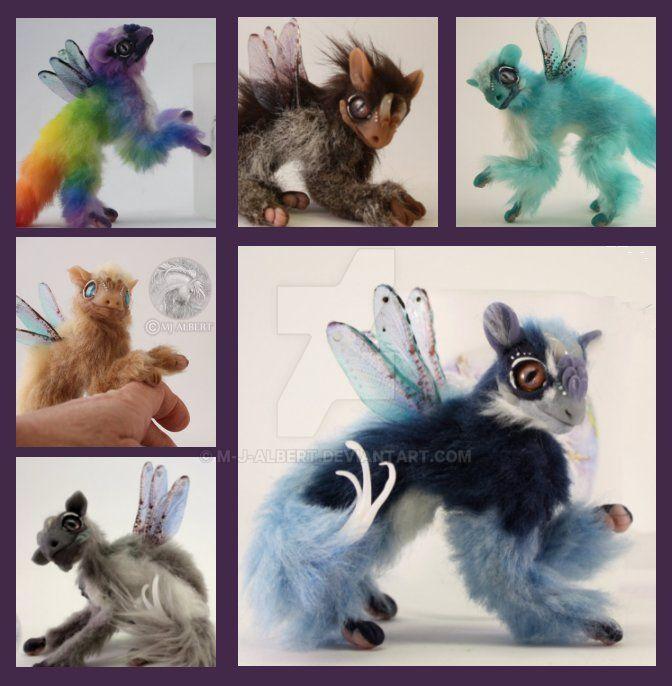 Custom Fairy Spirit Dragon Fledgling Dolls by M-J-Albert