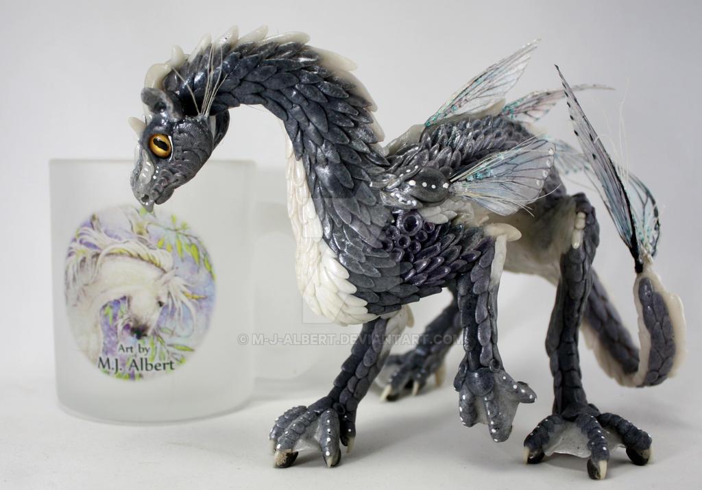 OOAK Water Dragon Sculpted Art Doll by M-J-Albert