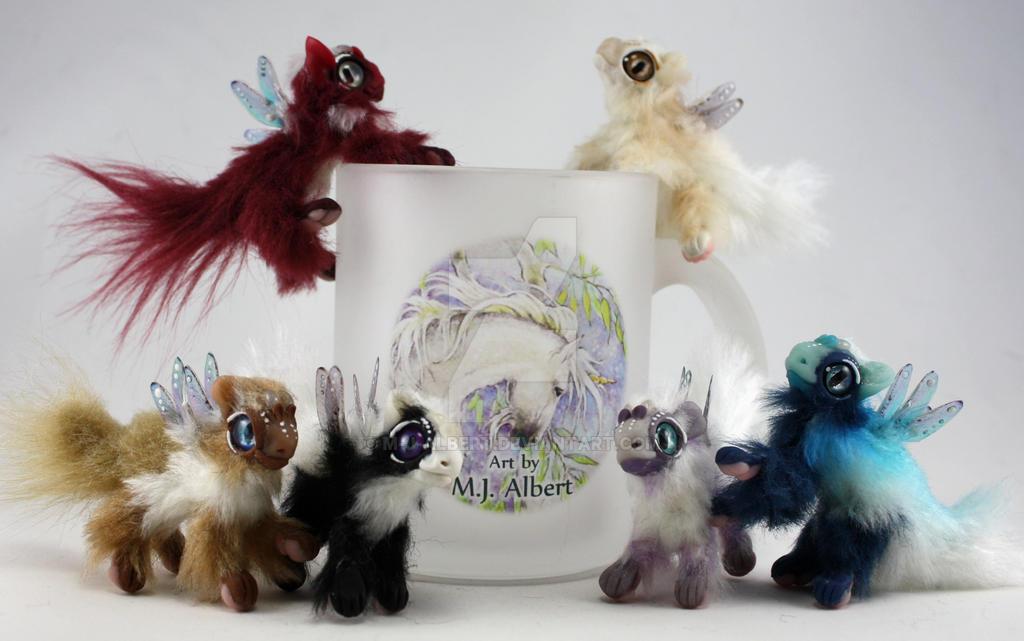 Mini Poseable Fairy Dragon Art Dolls by M-J-Albert