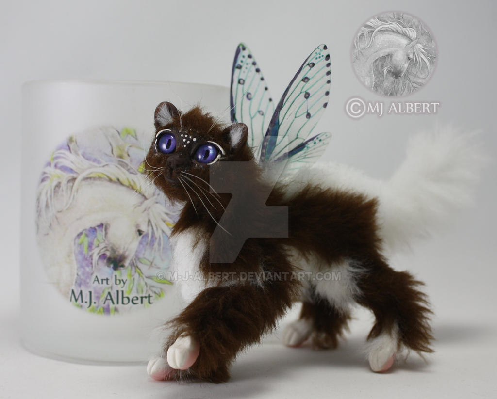 Fairy Cat Art Doll by M-J-Albert