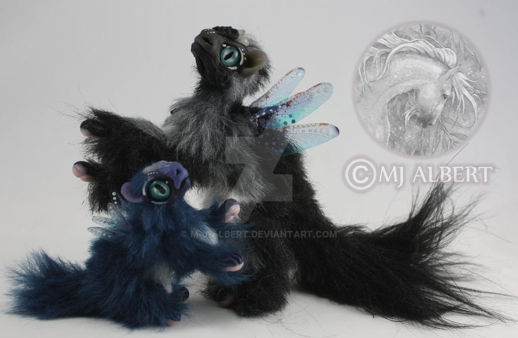 Fairy Spirit Dragon Fledgling Hatchling Art Doll by M-J-Albert