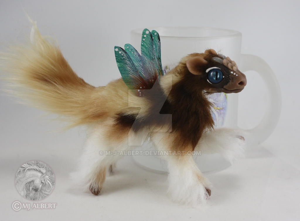 OOAK Fairy Spirit Dragon Fledgling Doll by M-J-Albert